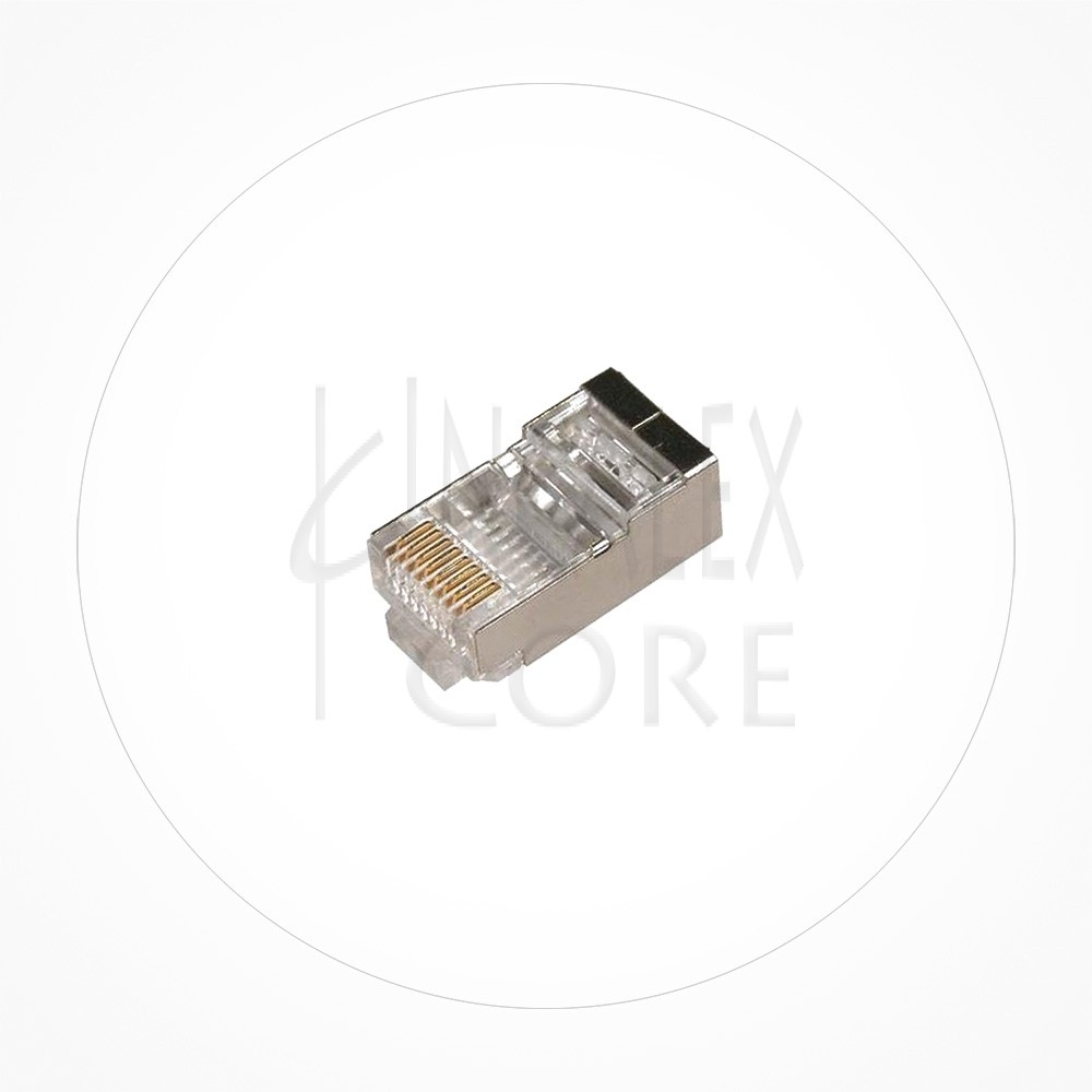 Conector Ethernet FTP Macho Rj49 Cat6 Guia Interna