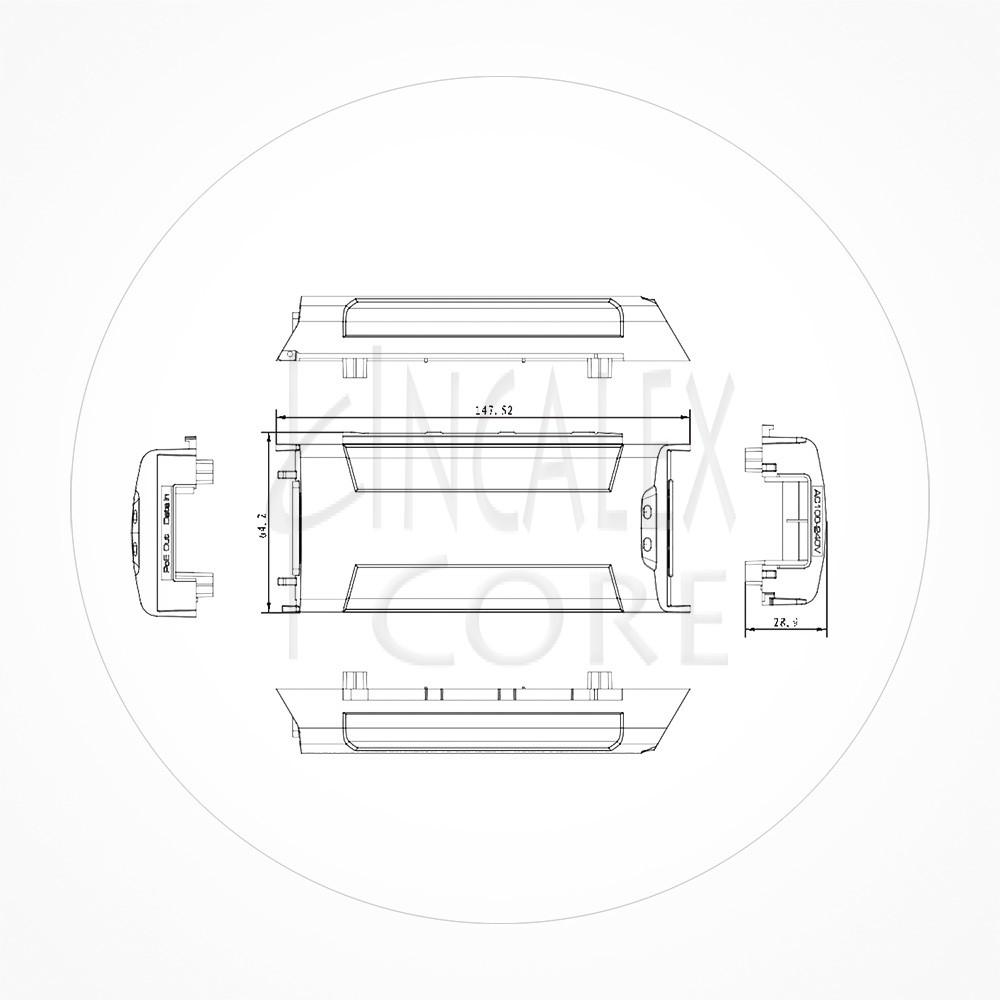 Inyector Industrial HiPoE POE++ 1 Puerto 60W 10/100/1000