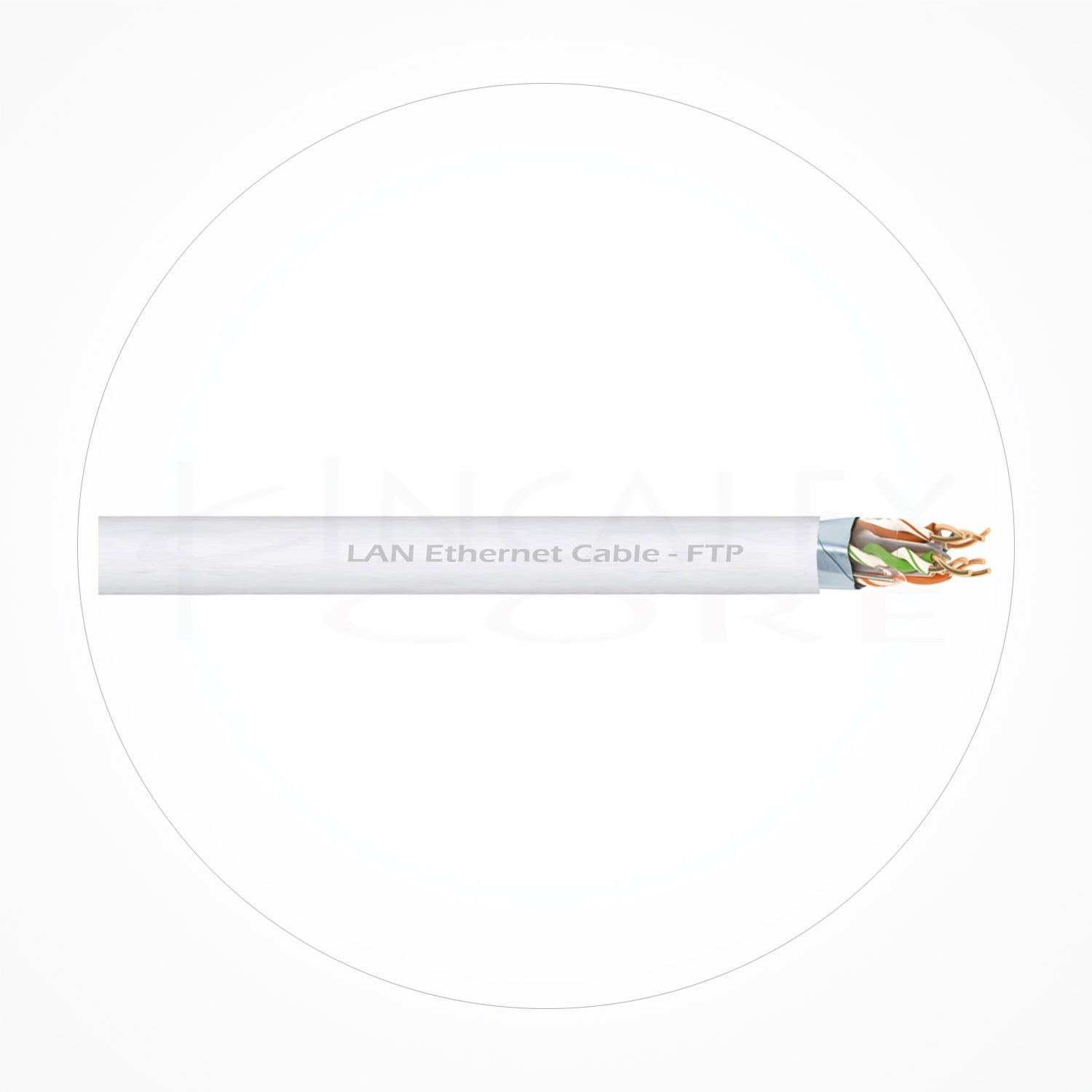 Cable FTP Ethernet Cubierta Blanca PVC Cat6