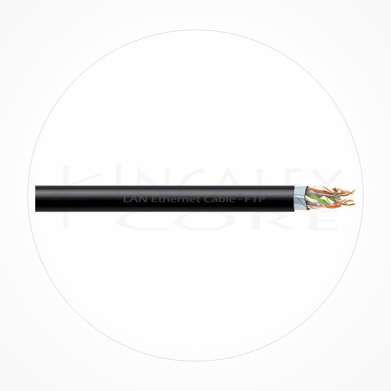 Cable FTP Ethernet Cubierta Negra PE Cat6