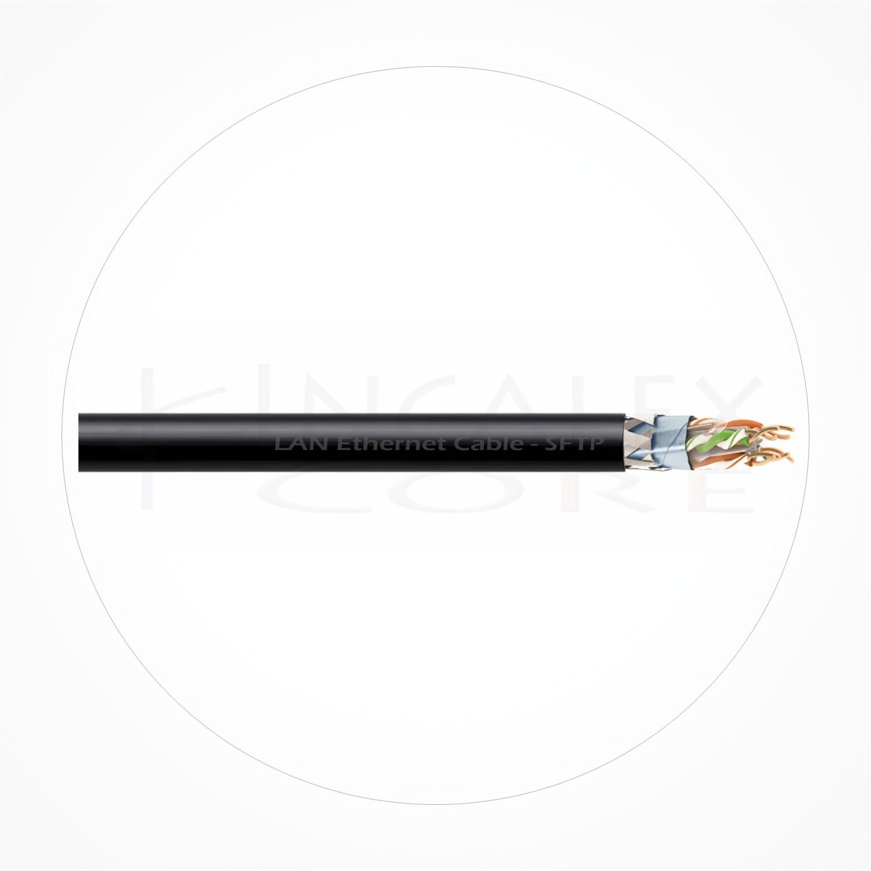 Cable SFTP Ethernet Armado Cubierta Negra PE Cat6A