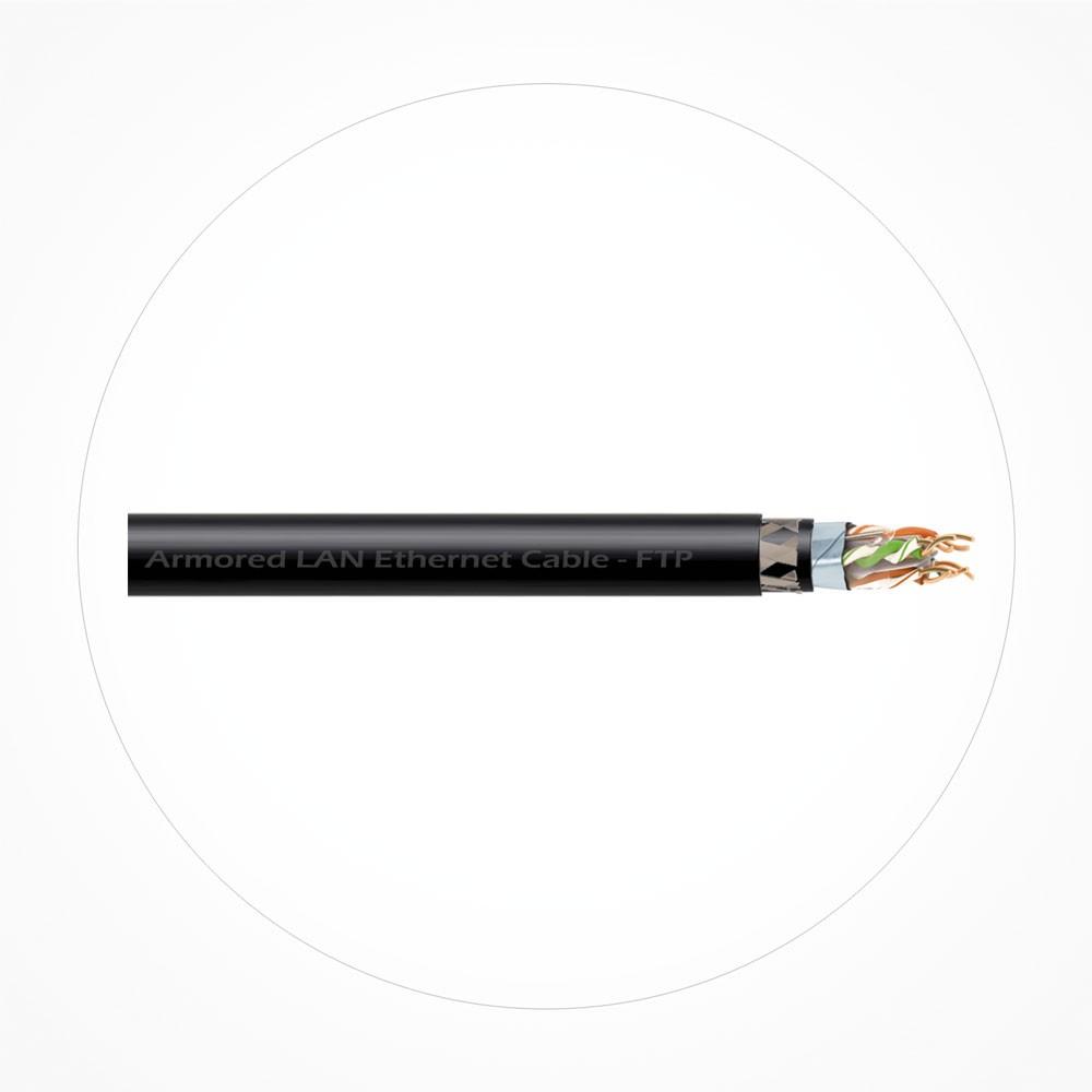 Cable FTP Ethernet Armado Cubierta Negra LSZH Cat6