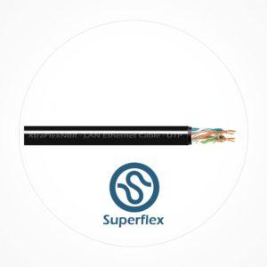 Cable UTP Ethernet Doble Cubierta XtraFlex NBR Cat6