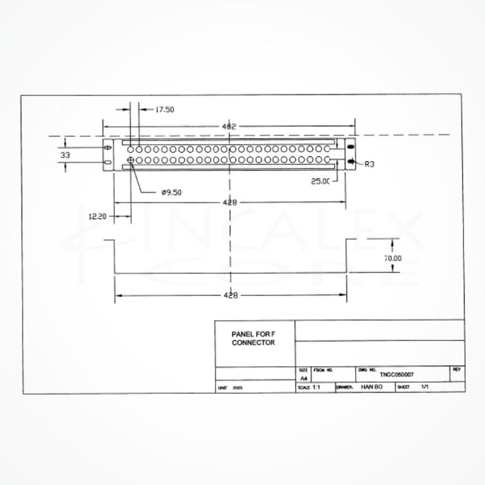 """Patchpanel 19"""" Vacio 48 Puertos 1.5U RF"""