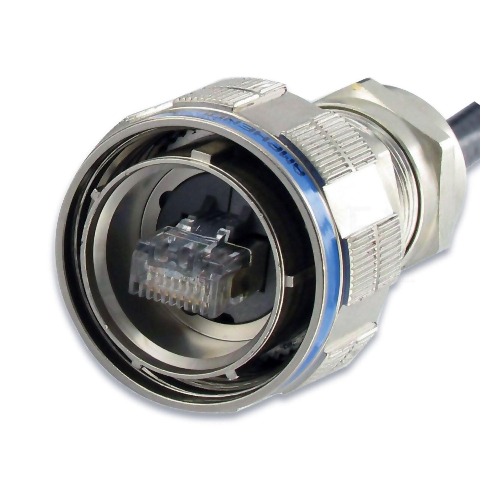 Conector Ethernet Estanco Macho IP68 ATEX Catx Amphenol RJFTVX6MN